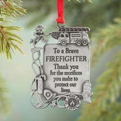 FIREFIGHTER OCCUPATION ORNAMENT, 2-1/4-INCH