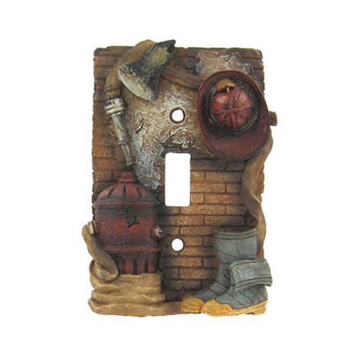 Fireman Single Switch Plate Cover