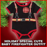 Adorable Firefighter Baby Suit