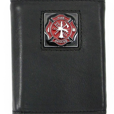 Firefighter Leather Tri-fold Wallet