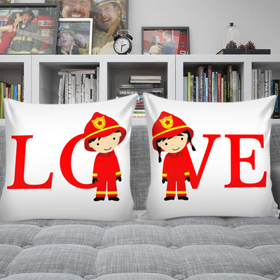 Male and Female Love Small Pillow