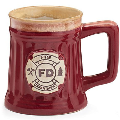 Porcelain Burgundy Coffee Mug/Cup with Fire Department Crest!!!! Available now!