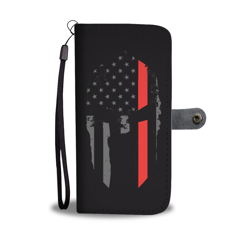 SPARTAN HELMET THIN RED LINE PHONE CASE WALLET
