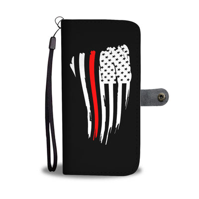 Thin Red Line American Flag Phone Case Wallet