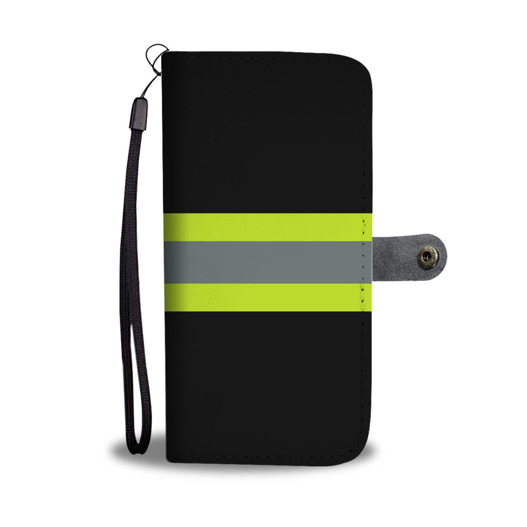 FIREFIGHTER BLACK PHONE CASE WALLET