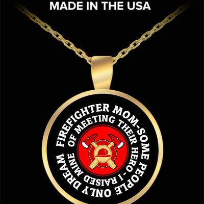 FIREFIGHTER MOM FAMILY NECKLACE