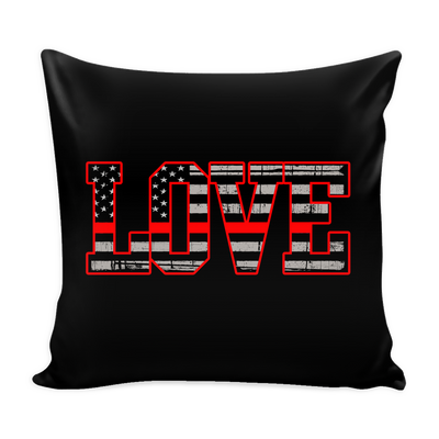 LOVE - THIN RED LINE FLAG PILLOW