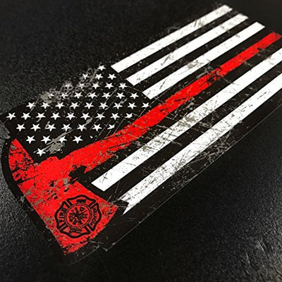 American Firefighter Red Axe - Sticker