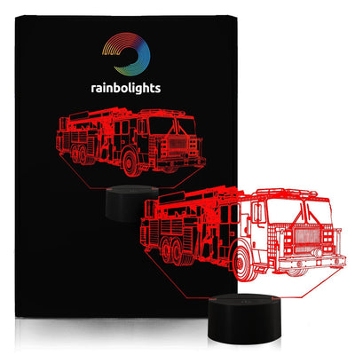 FIRE TRUCK Illusion Night Light 7 Color LED Does Not Get Hot A Great Birthdays Gift For Boys