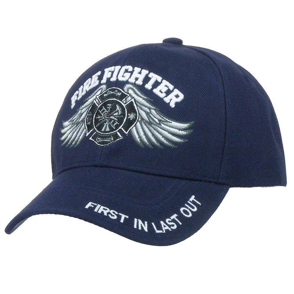 fire fighter first in last out high definition embroidery hat