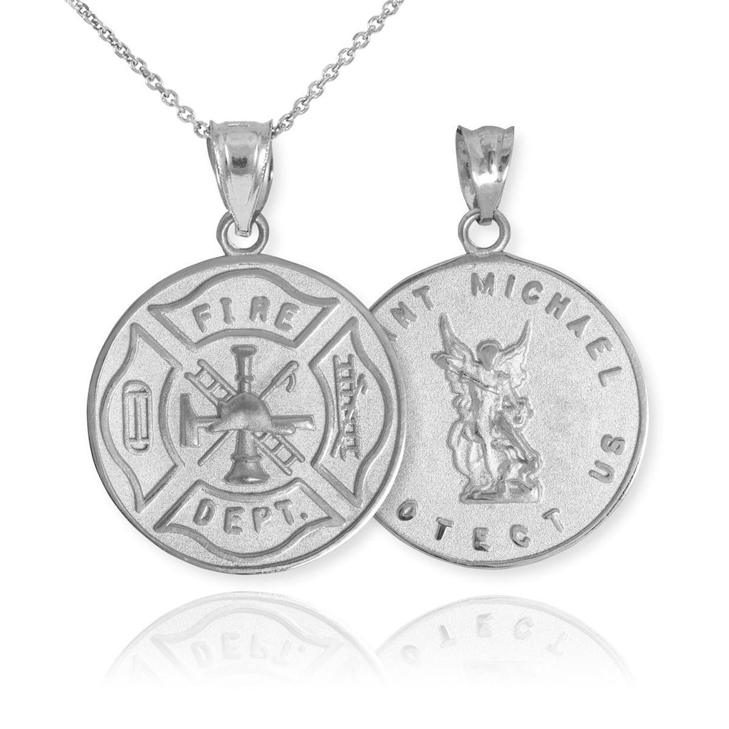 st heart saint silver the patron necklace product lot chain michaels archangel michael shaped catholic wholesale pendant