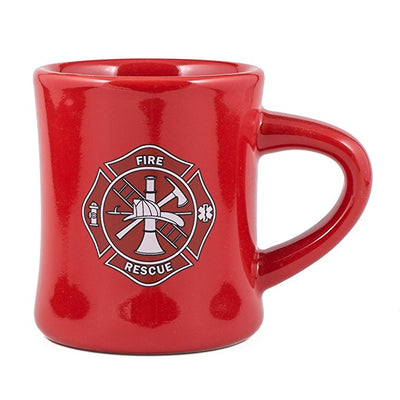 10oz. Fire Rescue Maltese Cross Firefighters Diner Mug