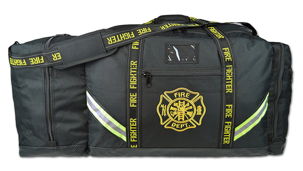 Fireman Premium XXXL Firefighter Rescue Step-In Turnout Fire Gear Bag w/ Shoulder Strap & Helmet Pocket