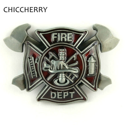 Fire Dept Hatchet Big Belt Metal Buckle for Men