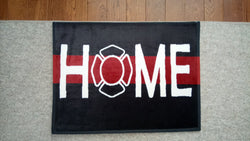 Amazing Firefighter Welcome Home Door Mat