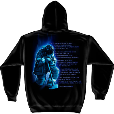 FIREFIGHTER PRAYER HOODED SWEATSHIRT