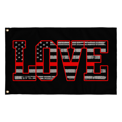 Love - Thin Red Line Flag