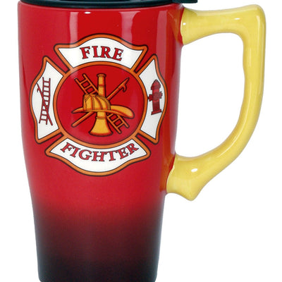 Custom Made Brilliant Firefighter Travel Mug