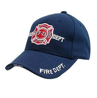 Navy Blue Fire Dept insignia hat