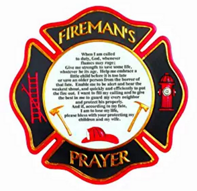 Fireman's Prayer Stepping Stone