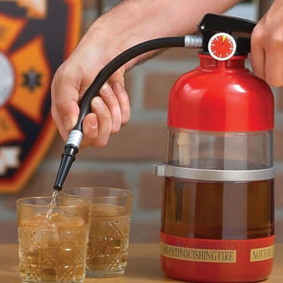 Fun Fire Extinguisher Drink Shaker Liquor Pump Wine Beer Dispenser Machine