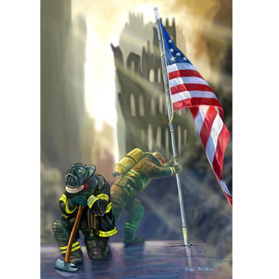 Toland Home Garden American Heroes Decorative USA-Produced Garden Flag, 12.5 by 18""