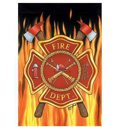Fire Department - Garden Size 12 Inch X 18 Inch Decorative Flag