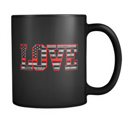 LOVE - THIN RED LINE FLAG MUG