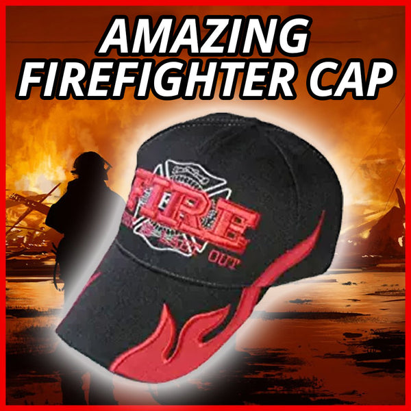Fire Rescue Fireman Firefighter Hat / Sports Style Ball Cap / Black