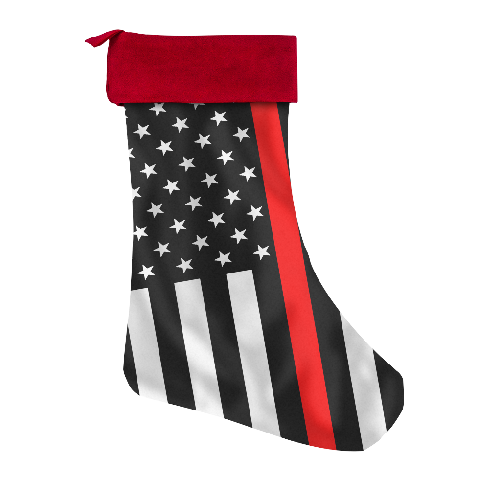 Firefighter Christmas Stocking.Custom Designed Thin Red Line American Flag Christmas Stockings