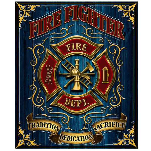 "NEW Firefighter Creed ""Tradition, Dedication, And Sacrifice"" Hero Throw Blanket"