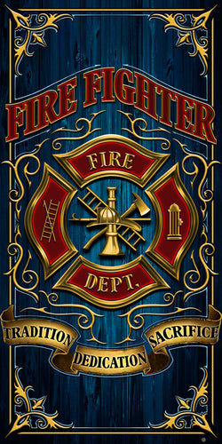 "Firefighter Creed ""Tradition, Dedication, And Sacrifice"" Hero Towel"