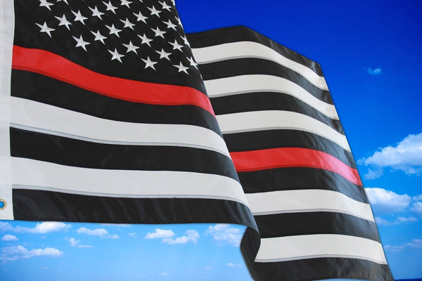 THIN RED AND BLUE LINE AMERICAN FLAG