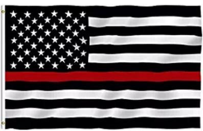 3x5 Foot Thin Red Line USA Flag