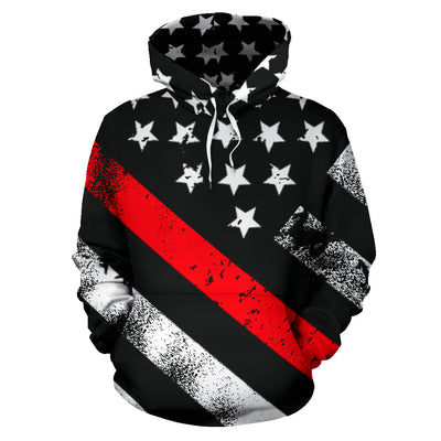 Thin Red Line American Flag Hoodie