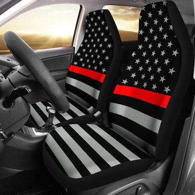 THIN RED LINE FLAG CAR SEAT COVERS (SET OF 2)