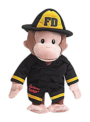 Curious George Fireman Stuffed Animal