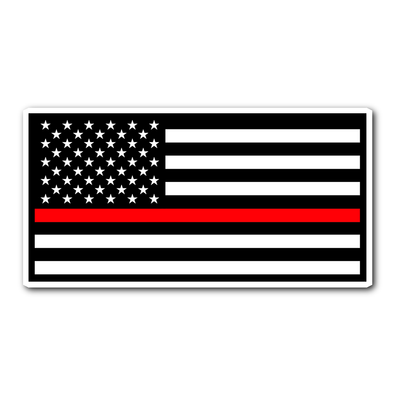 THIN RED LINE AMERICAN FLAG STICKER
