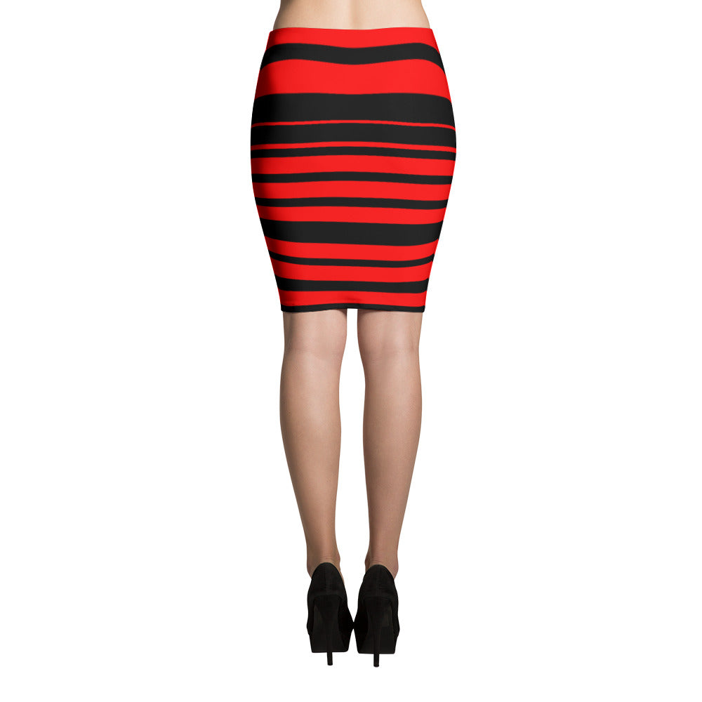 Thin Red Line Dress Pencil Skirt