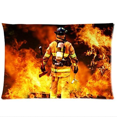 Fire Design Fire Department Pillowcase,Twin Sides Pillowcase Pillow Cover 20x30 inches