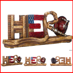 Fireman Hero Word Plaque