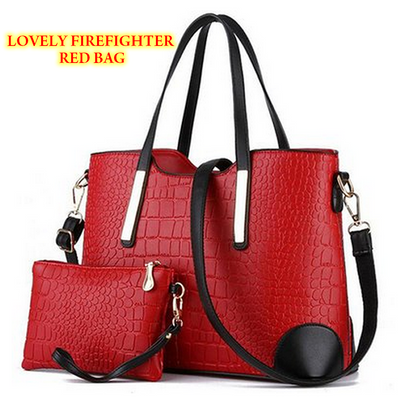 Gorgeous Women 2-Piece Designer Brand Leather Shoulder Handbag