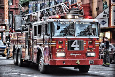 "Firetruck Canvas Matte Archival 23"" x 33"""
