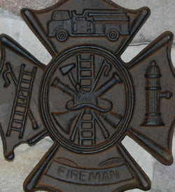 FIREMAN SIGN Wall Plaque  FIRE FIGHTER GIFT