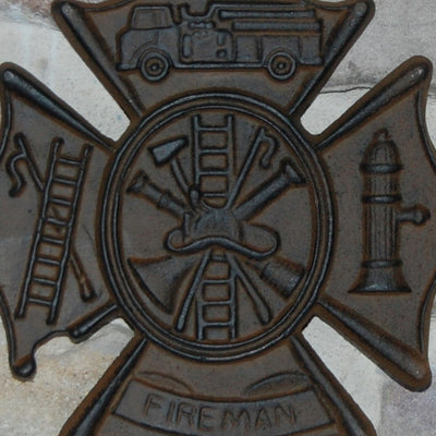 Fireman Sign Wall Plaque FIrefighter Gift
