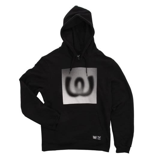 Dots White<BR>Hoody Black