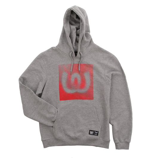 Dots Red<BR>Hoody Grey