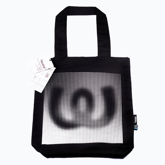 Dots White<BR>Twill Bag Black