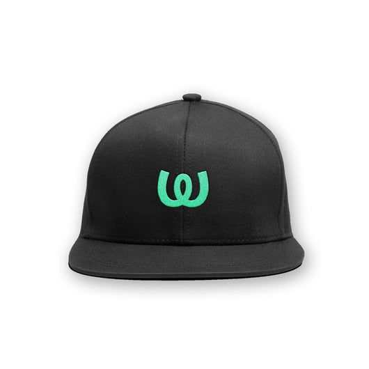 Logo Green<BR>Cap Black