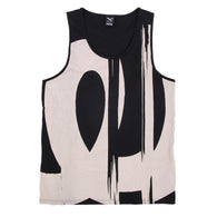 Scan Beige<BR>Tanktop Black